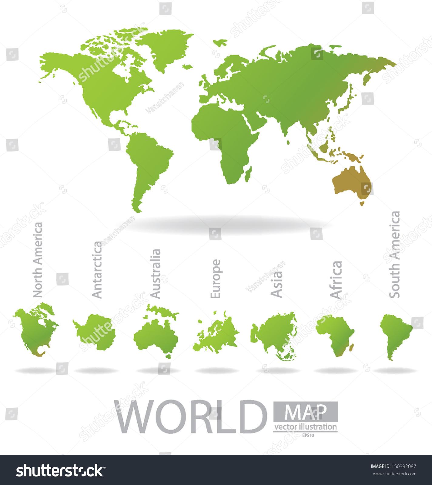 Map Of Australia On Europe.Africa Antarctica Asia Australia Europe North Stock Vector Royalty