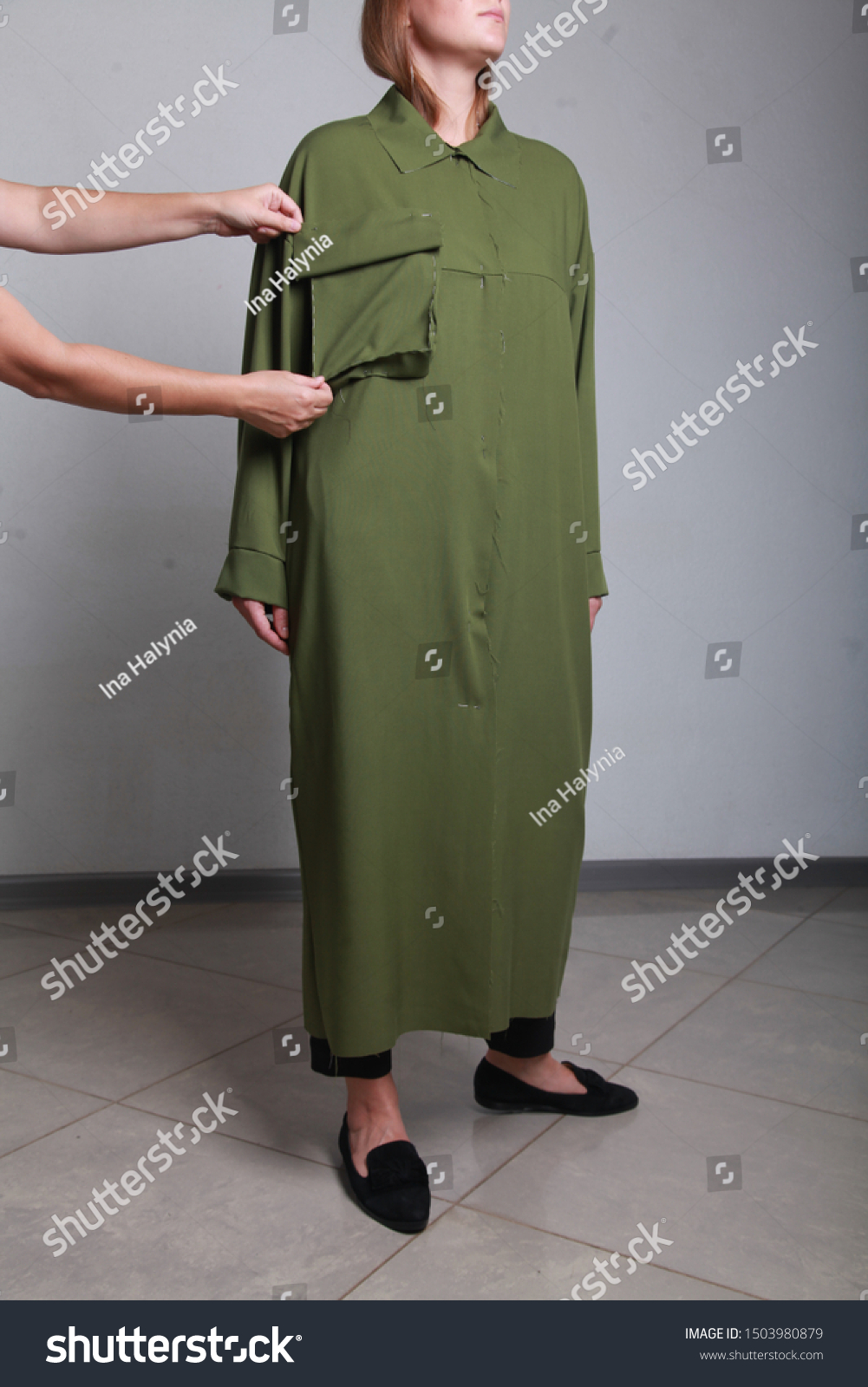 Closeup Female Fashion Designer Girl Hand Stock Photo Edit Now 1503980879