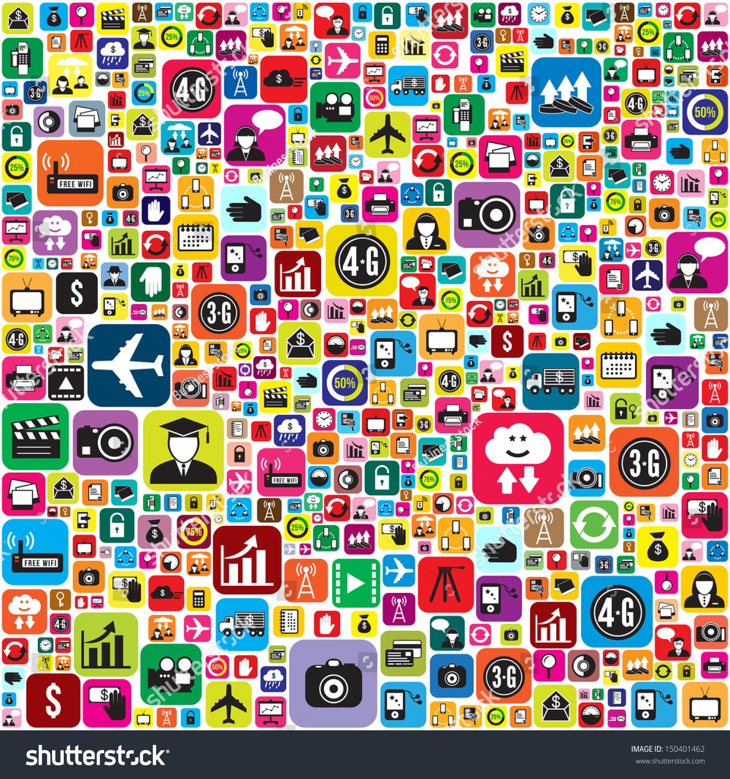 Wallpaper Social Network Icons