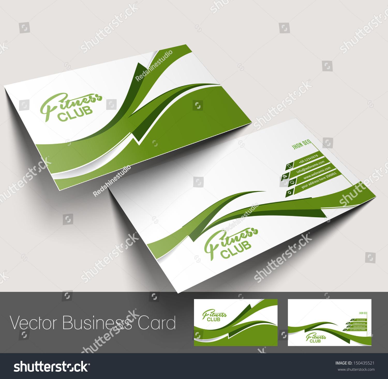 Vector Fitness Center Business Card Set Stock Vector