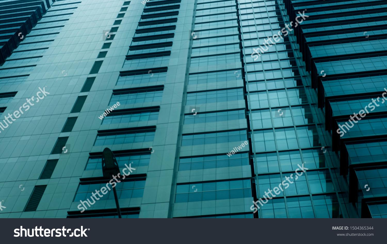 Closeup Modern Office Buildingbuilding Copy Spacewindows Stock Photo Edit Now 1504365344