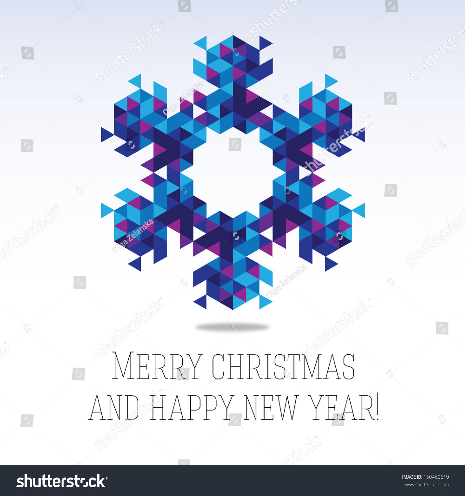 Business Greeting Christmas New Year Card Stock Vector 150460619 ...