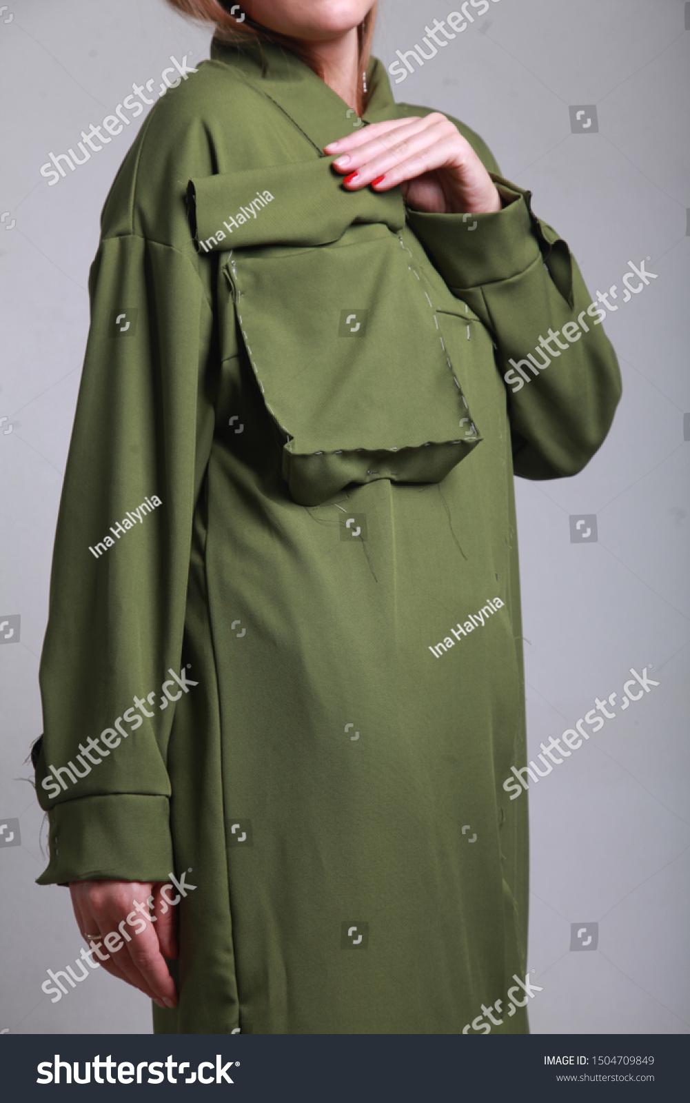 Closeup Female Fashion Designer Girl Hand Stock Photo Edit Now 1504709849