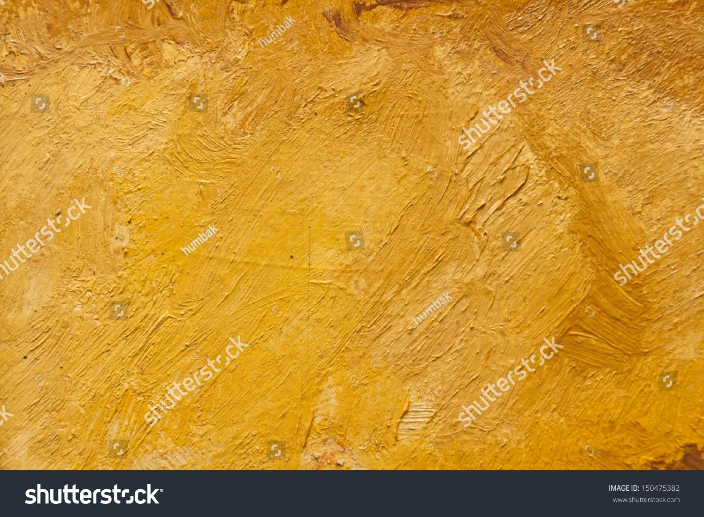 暖かい色の筆遣いの油絵の抽象的な壁紙 の写真素材 今すぐ編集