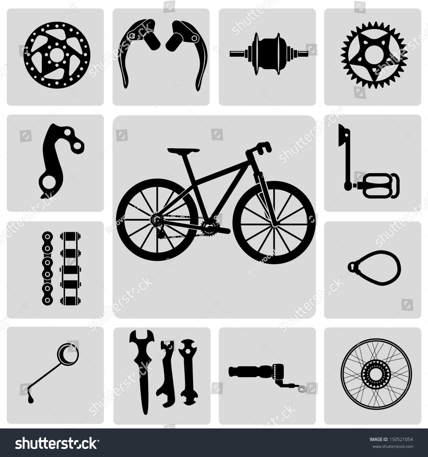 Mountain Bike Info Graphic Elements Spare Stock Vector 150521054
