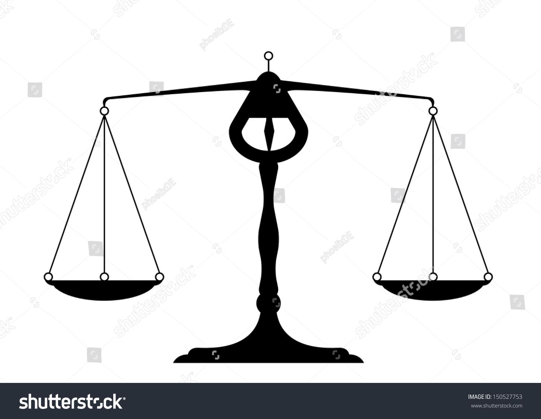 Detailed Illustration Balance Symbol Justice Stock Vector Royalty