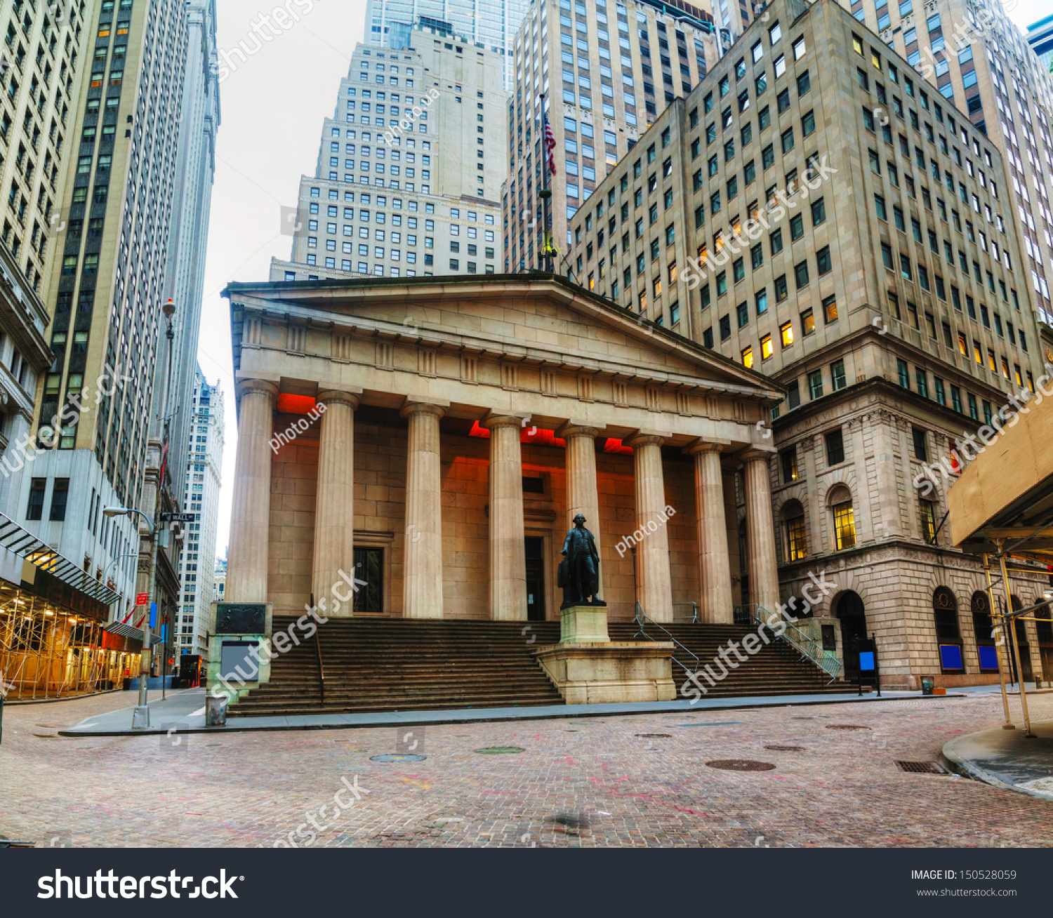 Federal Hall National Memorial On Wall Stock Photo ...