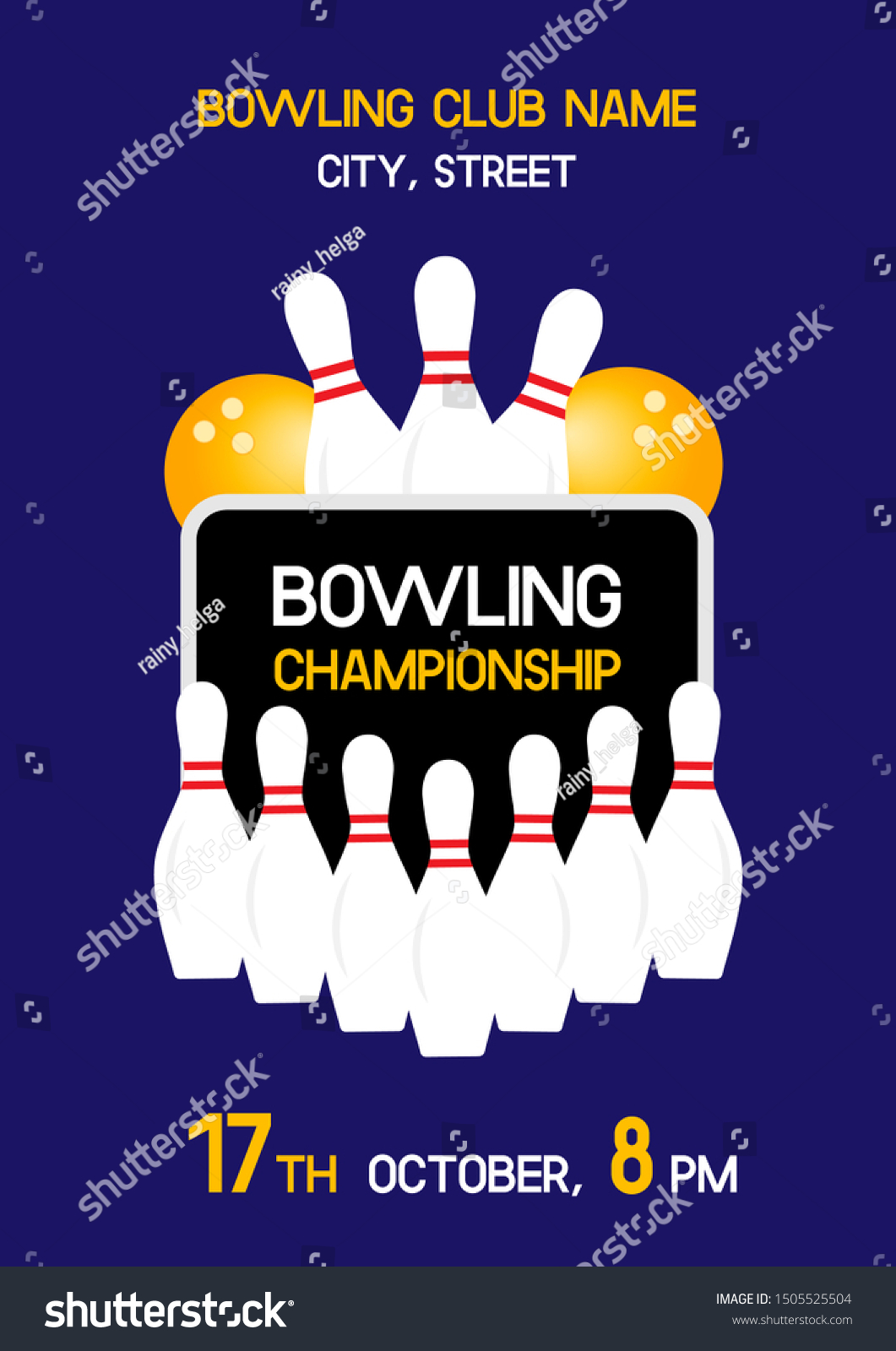 Bowling Tournament Invitation Flyer Template Raw