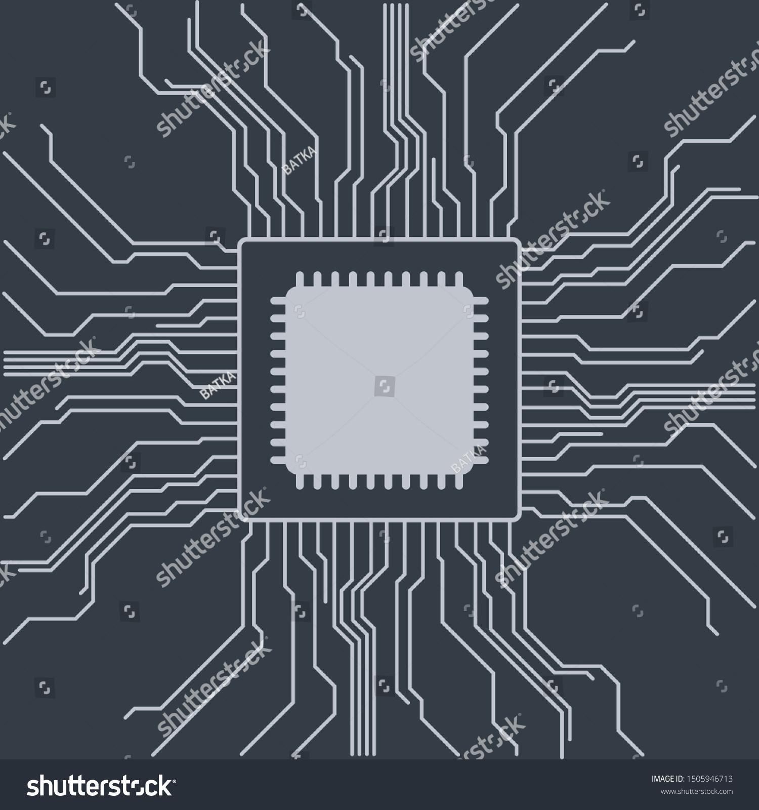 Computer Motherboard Vector Background Circuit Board Stock Vector (Royalty  Free) 1505946713Shutterstock