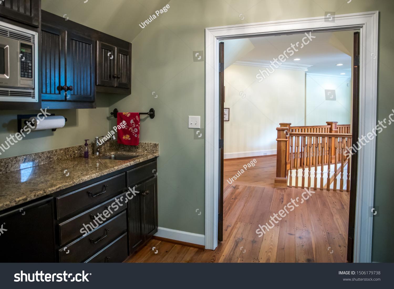 Small Kitchen Sink Cabinet Bonus Room Stock Photo Edit Now 1506179738