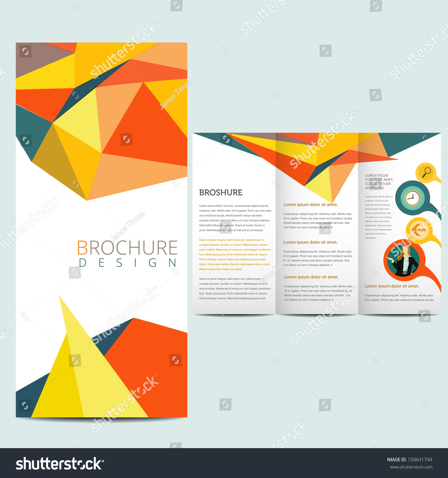 colorfull business brochure flyer template stock vector  colorfull business brochure flyer template