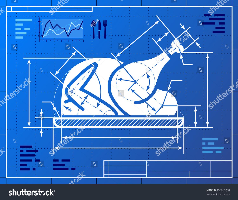 Christmas turkey symbol like blueprint drawing vectores en stock christmas turkey symbol like blueprint drawing stylized drawing of roast turkey on blueprint paper malvernweather Images
