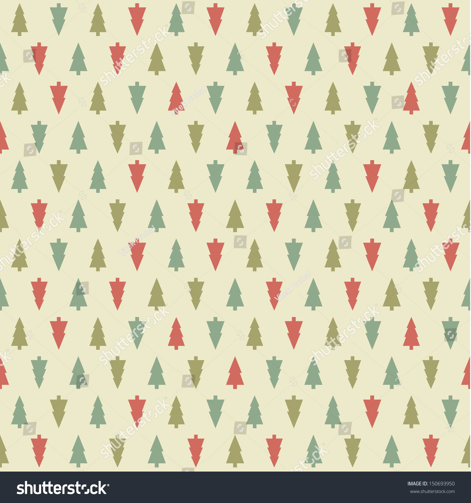 Seamless fir tree scandinavian pattern textile background wrapping - Vector Christmas Pattern Colorfully Xmas Seamless Texture For Background Greeting Card Or Wrapping