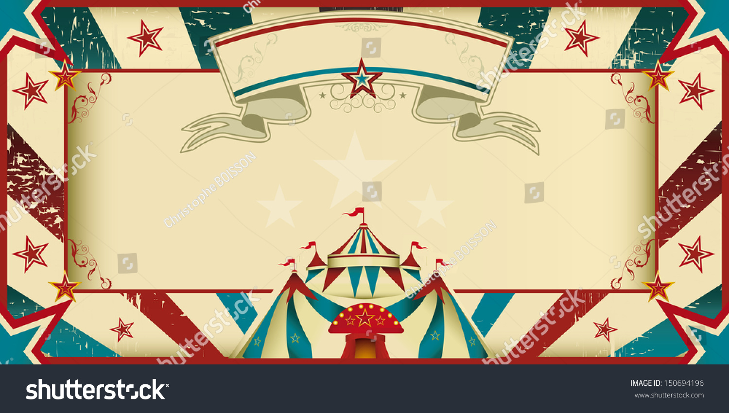 Dirty Circus Invitation Invitation Card Your Stock Vector ...