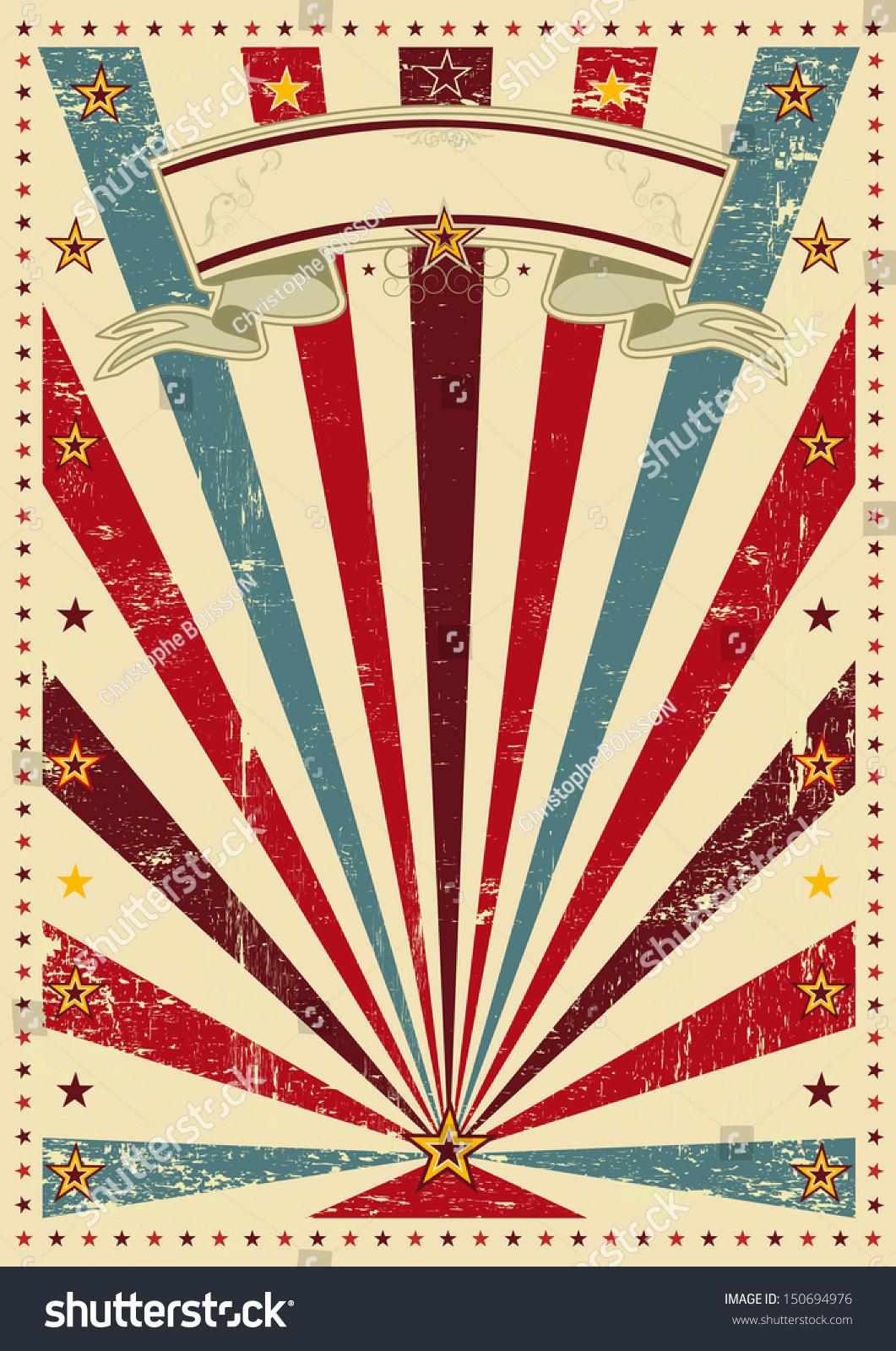 Sunbeams Vintage Color Background Vintage Poster Stock ...