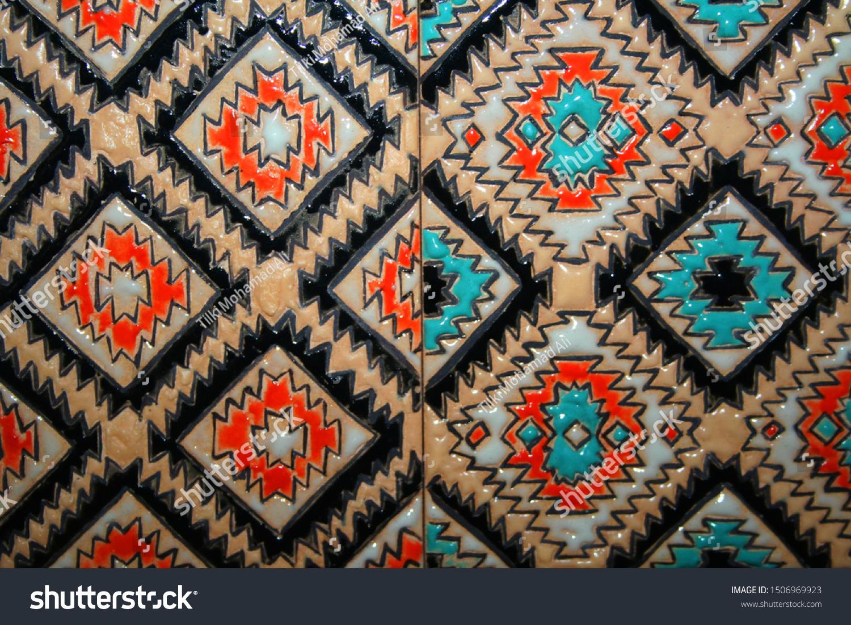 Multicolored Artistic Wall Decoration Designed Ceramic Stock Photo Edit Now 1506969923