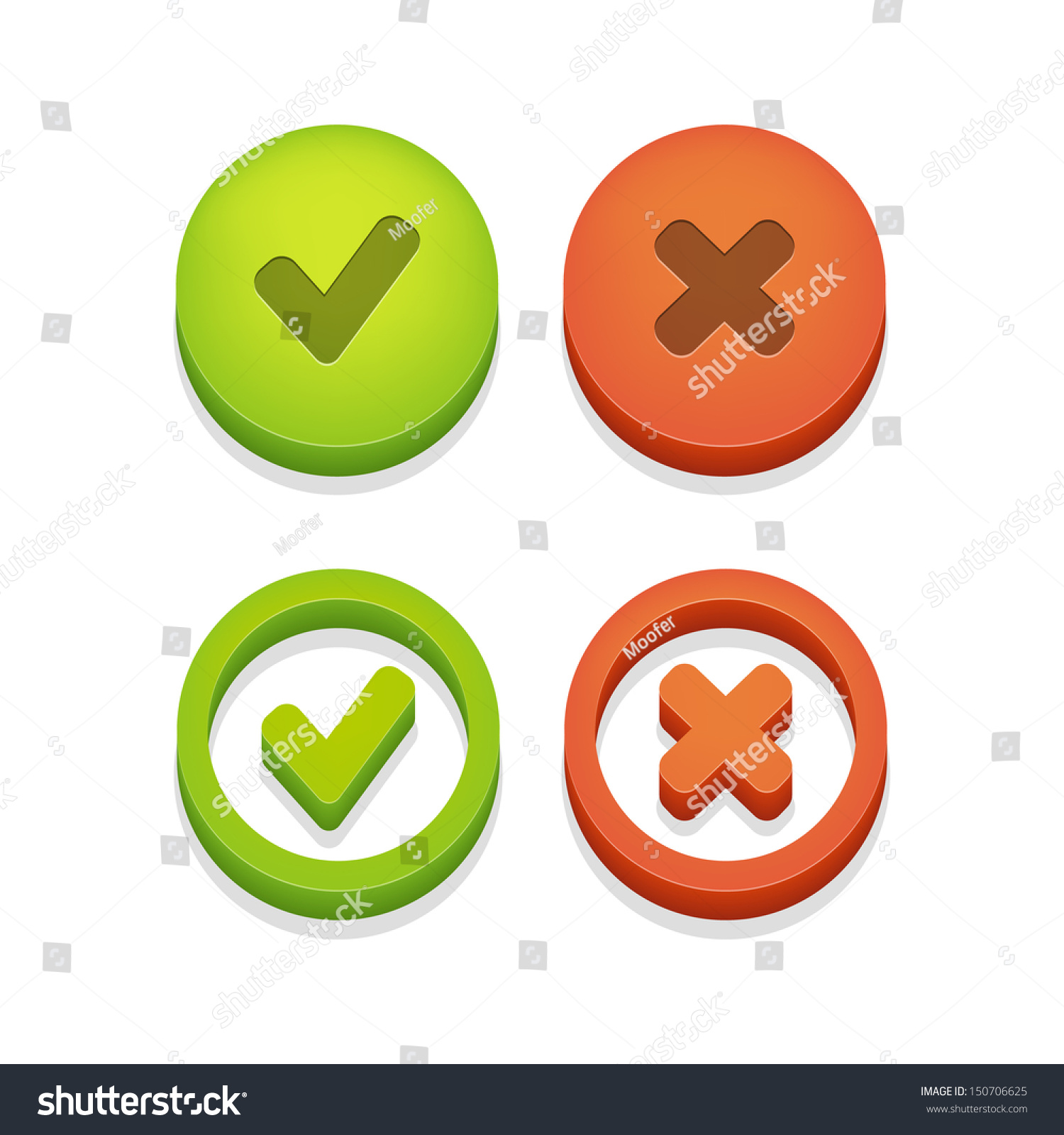 Circle check box check marks isolated stock vector 150706625 circle check box with check marks isolated on white vector illustration biocorpaavc