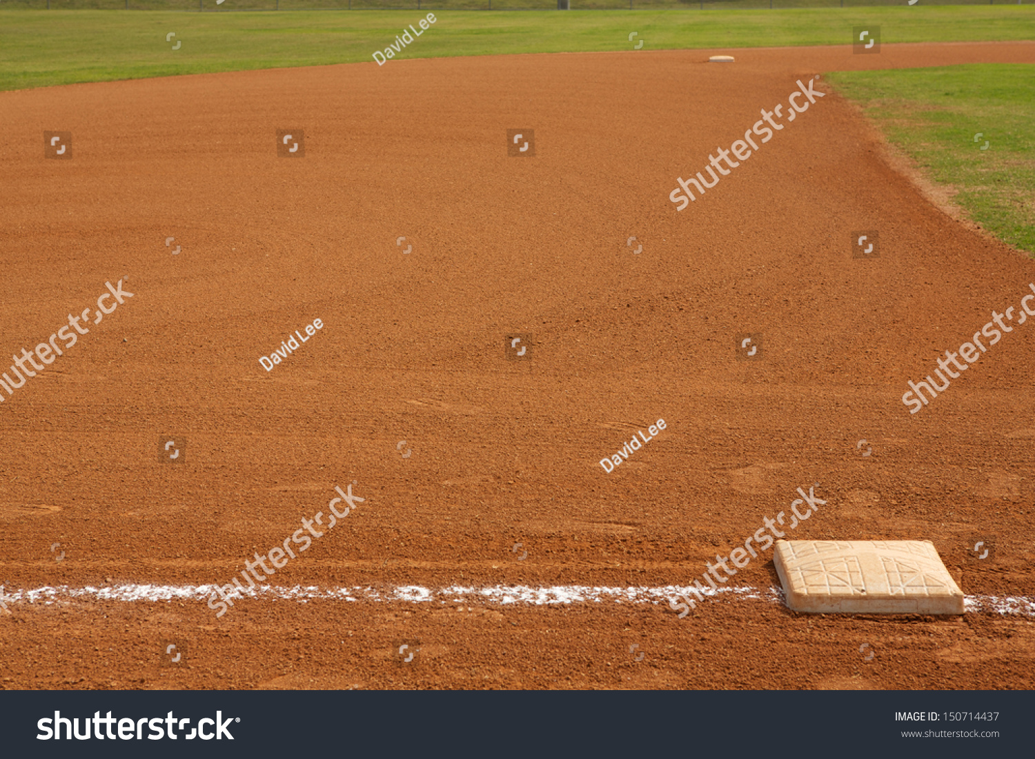 Baseball Field Third Base With The Beyond And Room For Copy