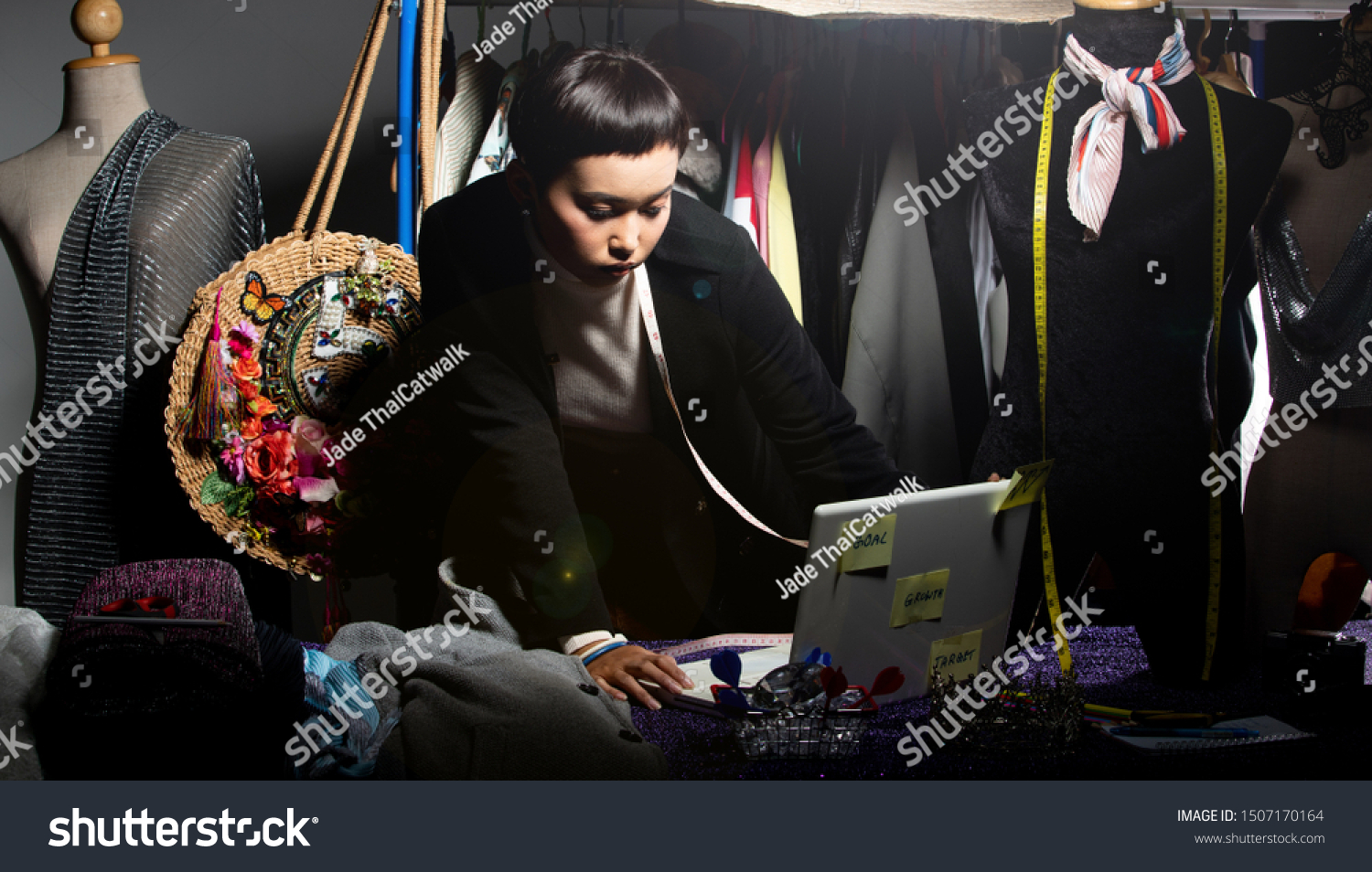 Tomboy Fashion Designer Checks Order Sale Business Finance Stock Image 1507170164