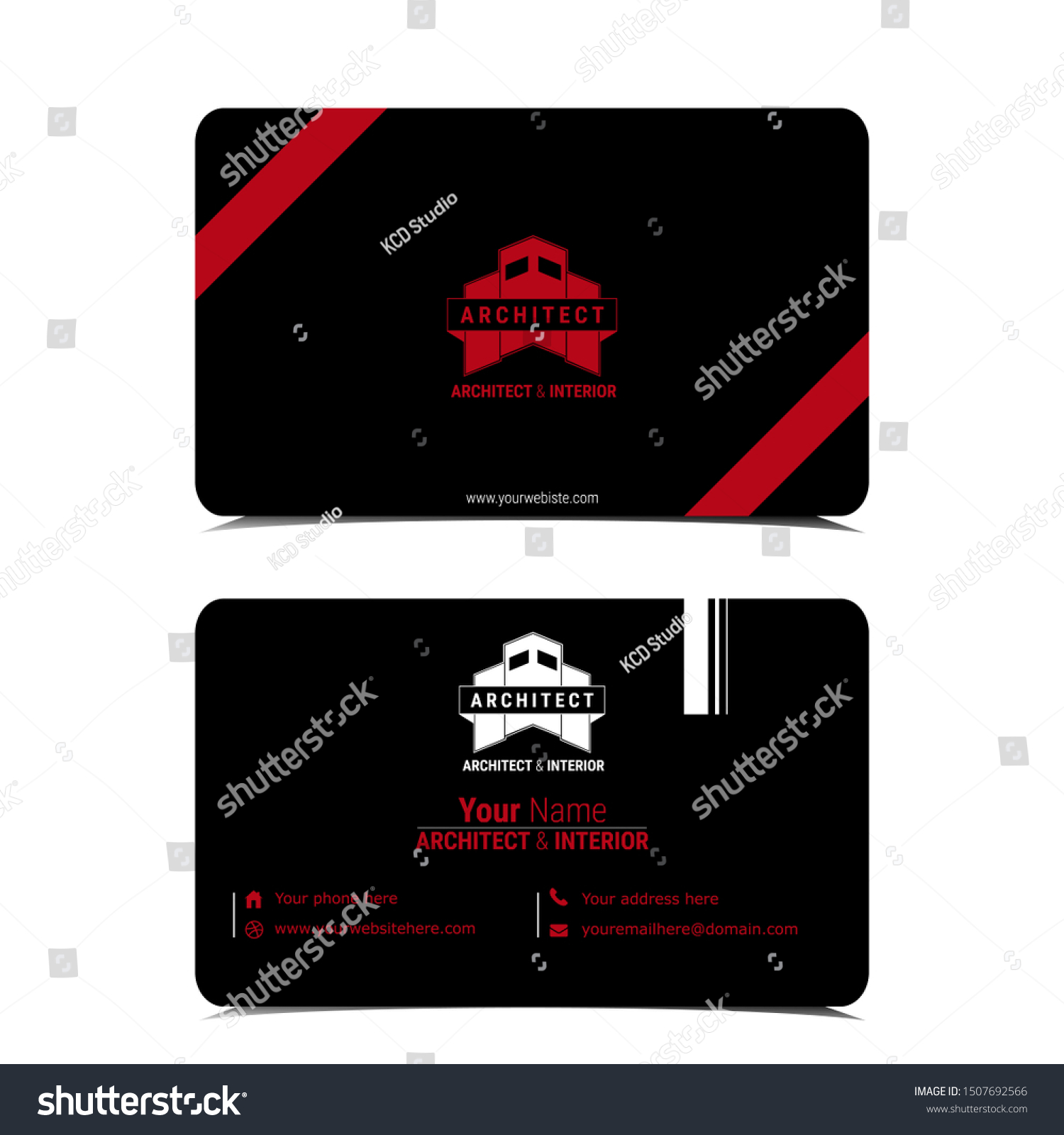 Modern Creative Business Card Template Architecture Stock Vector Royalty Free 1507692566