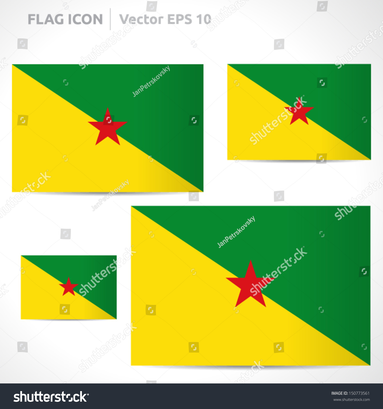French Guiana Flag Template Vector Symbol Stock Vector (Royalty Free ...