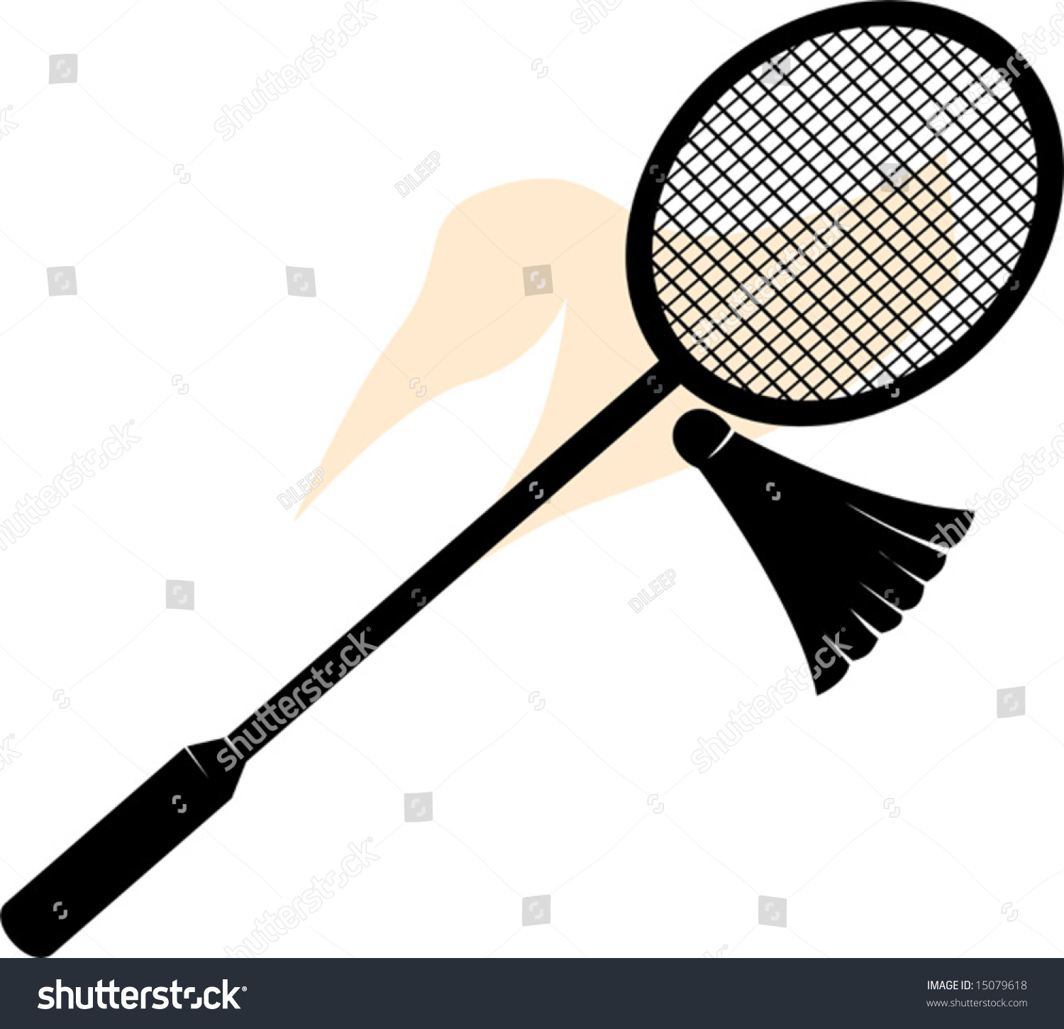 Badminton birdie and racket
