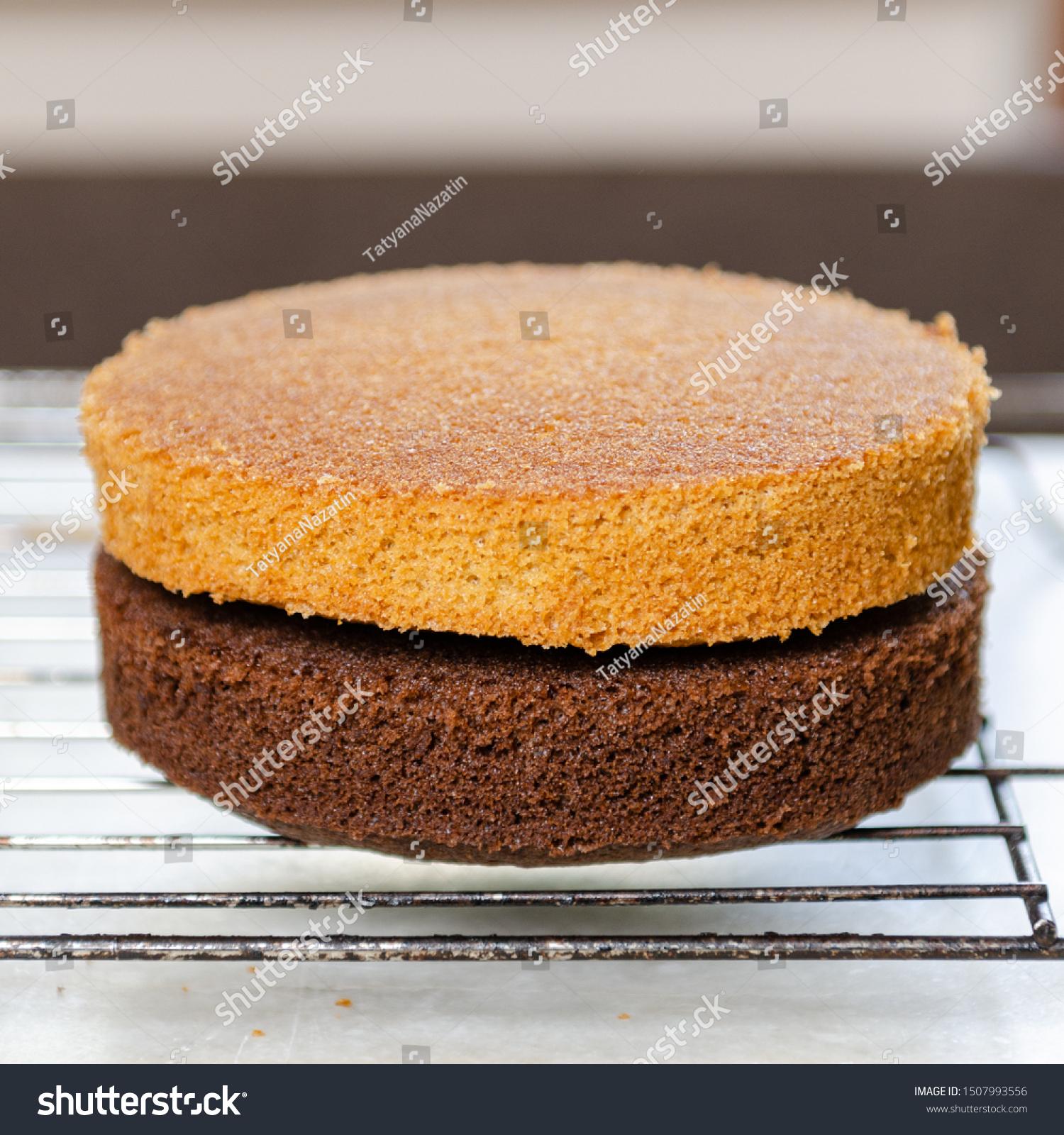 Super Chocolate Vanilla Sponge Cake Birthday Cake Stock Photo Edit Now Personalised Birthday Cards Arneslily Jamesorg