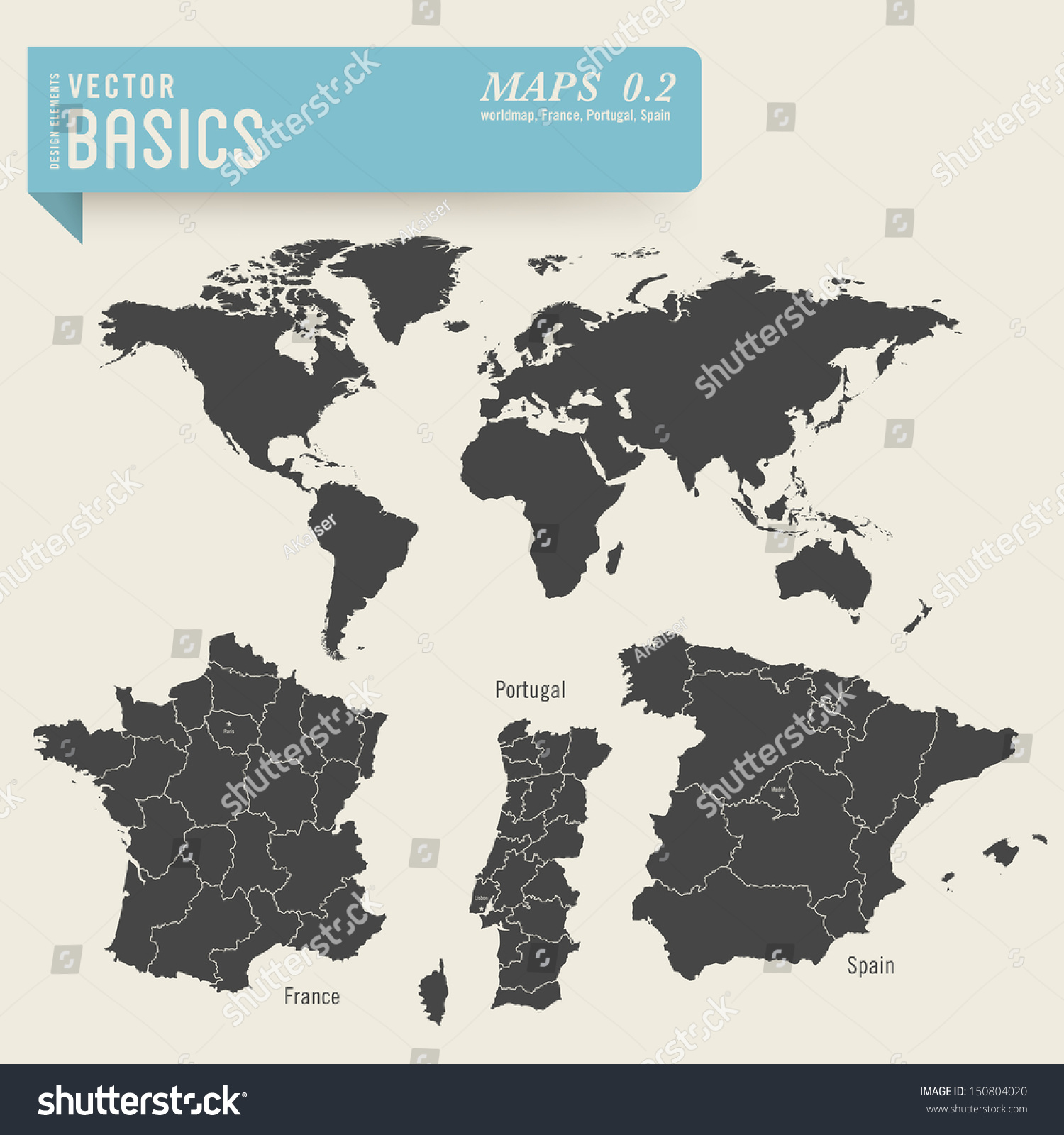 Image of: Vector Basics Worldmap Detailed Maps France Stock Vector Royalty Free 150804020