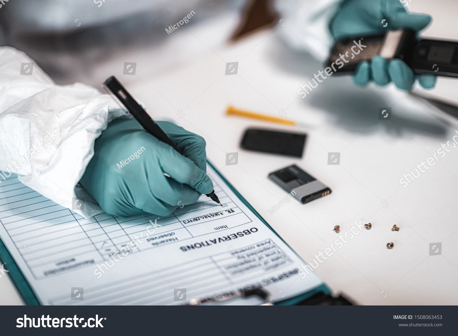 Digital Forensic Science Police Forensic Analyst Stock Photo Edit Now 1508063453