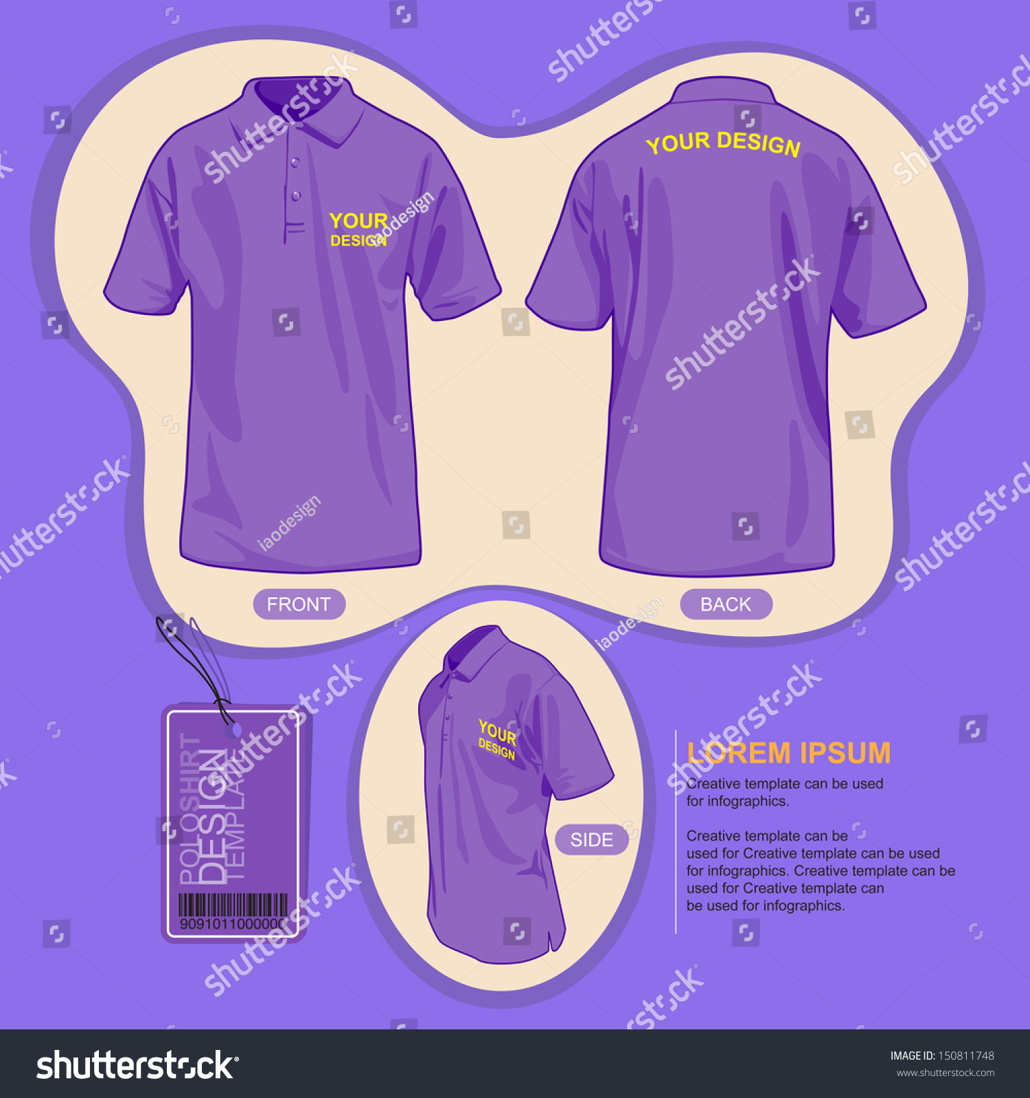 Shirt uniform design vector - Polo Shirt Uniform Template Illustration By Vector Design Preview Save To A Lightbox