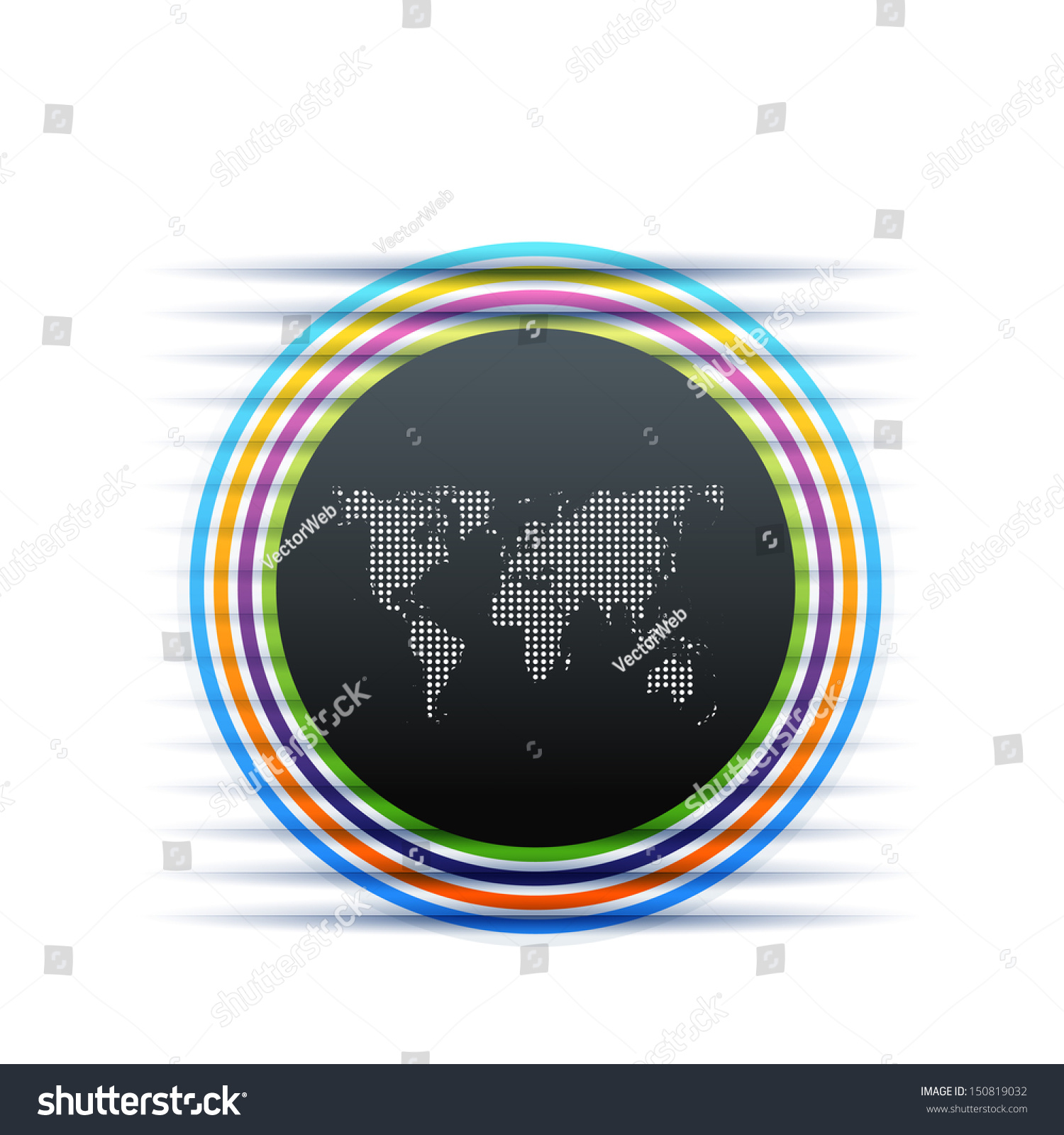 Abstract dot world map sticker stock vector 150819032 shutterstock abstract dot world map sticker gumiabroncs Images