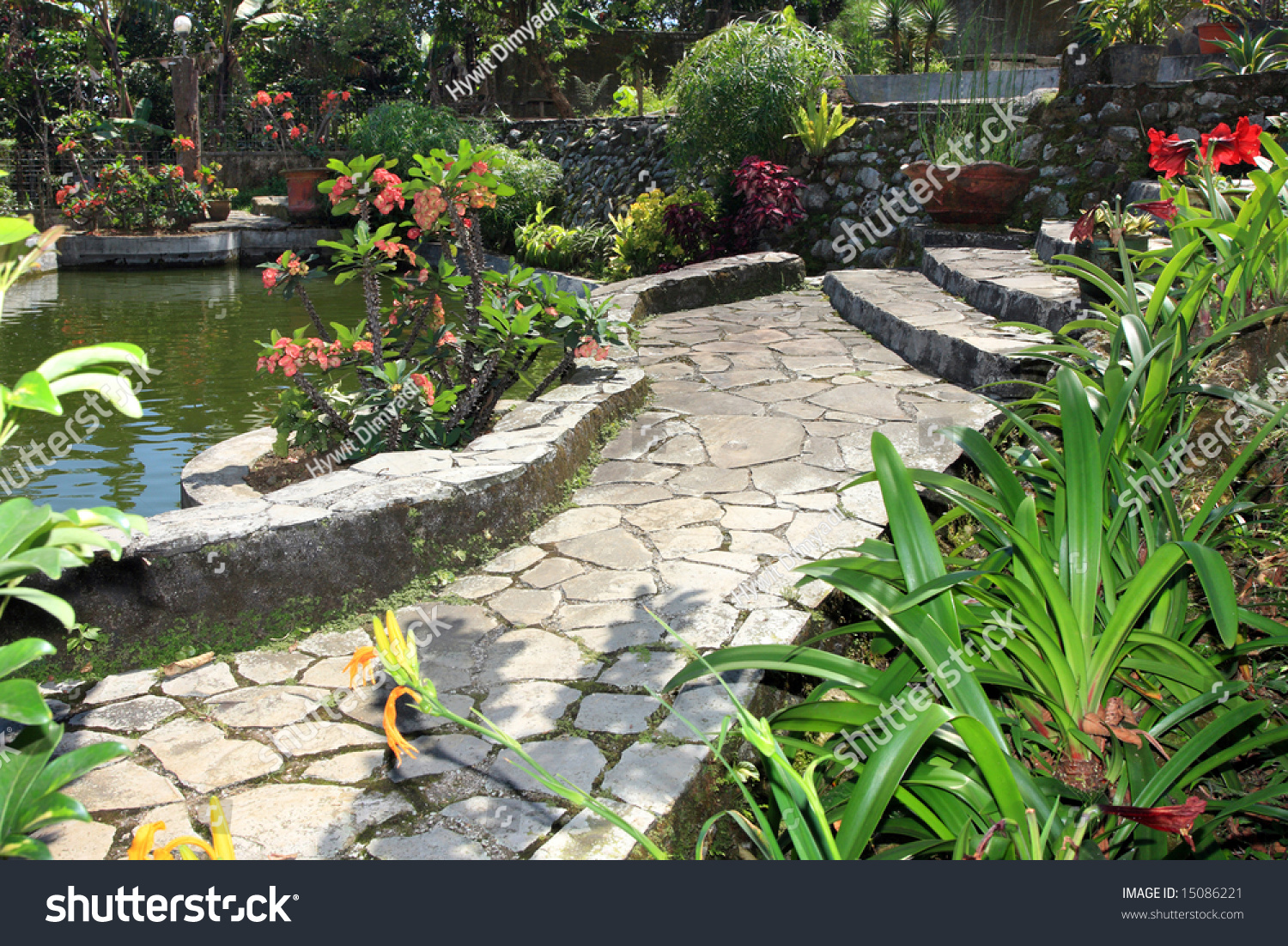 Beautiful natural gardens - Beautiful Natural Garden With Pond