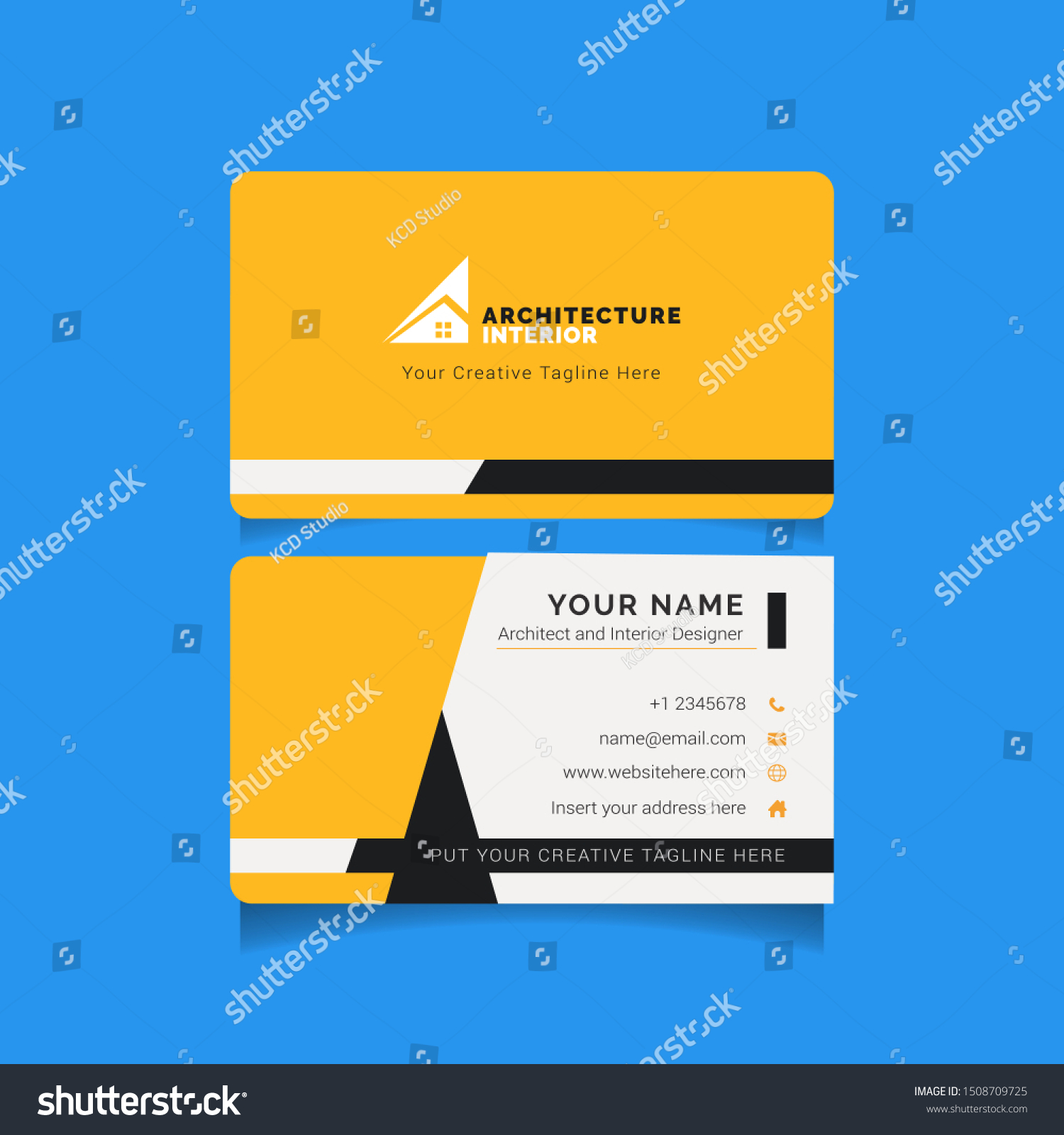 Modern Creative Business Card Template Architecture Stock Vector Royalty Free 1508709725