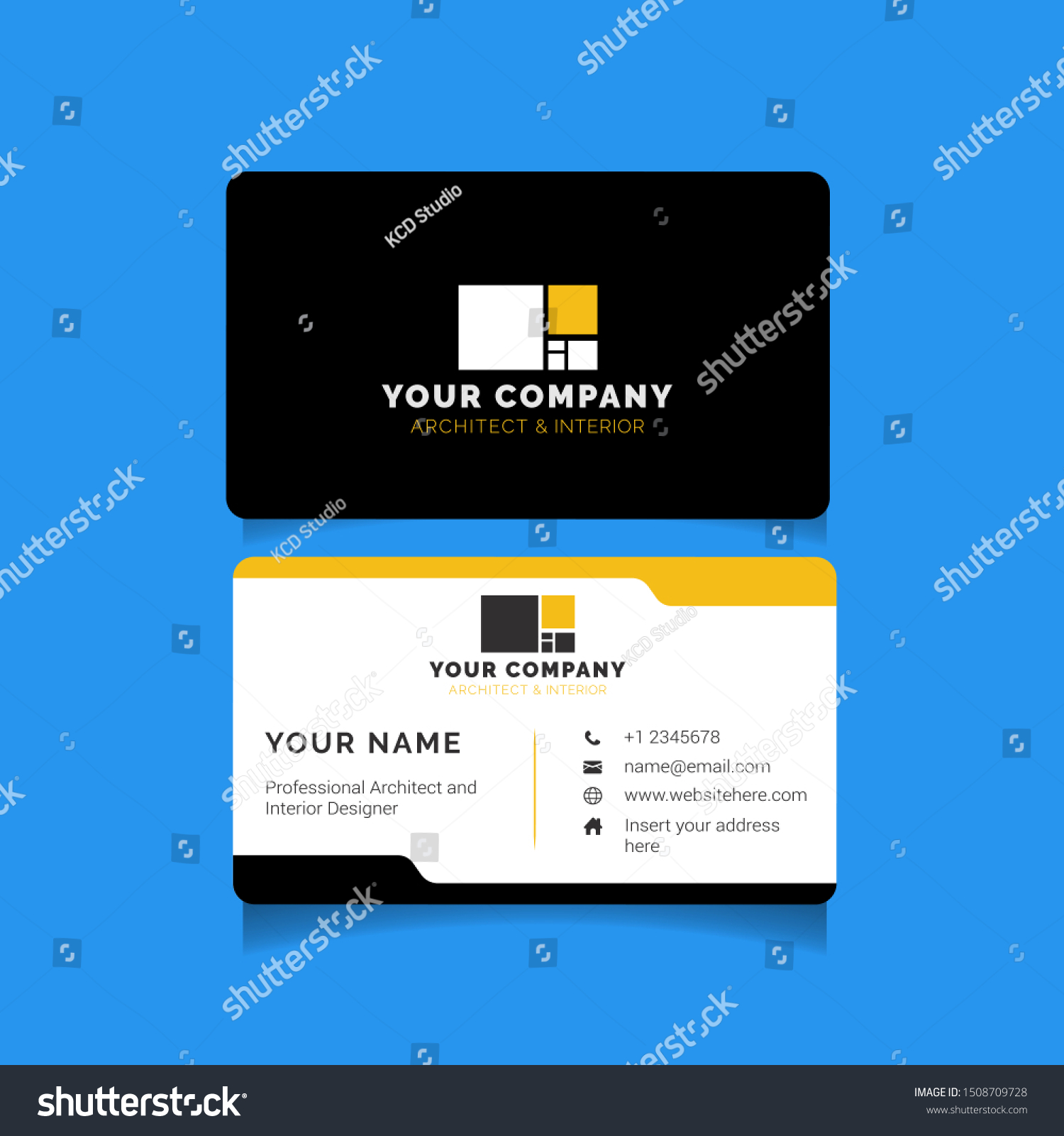 Modern Creative Business Card Template Architecture Stock Vector Royalty Free 1508709728