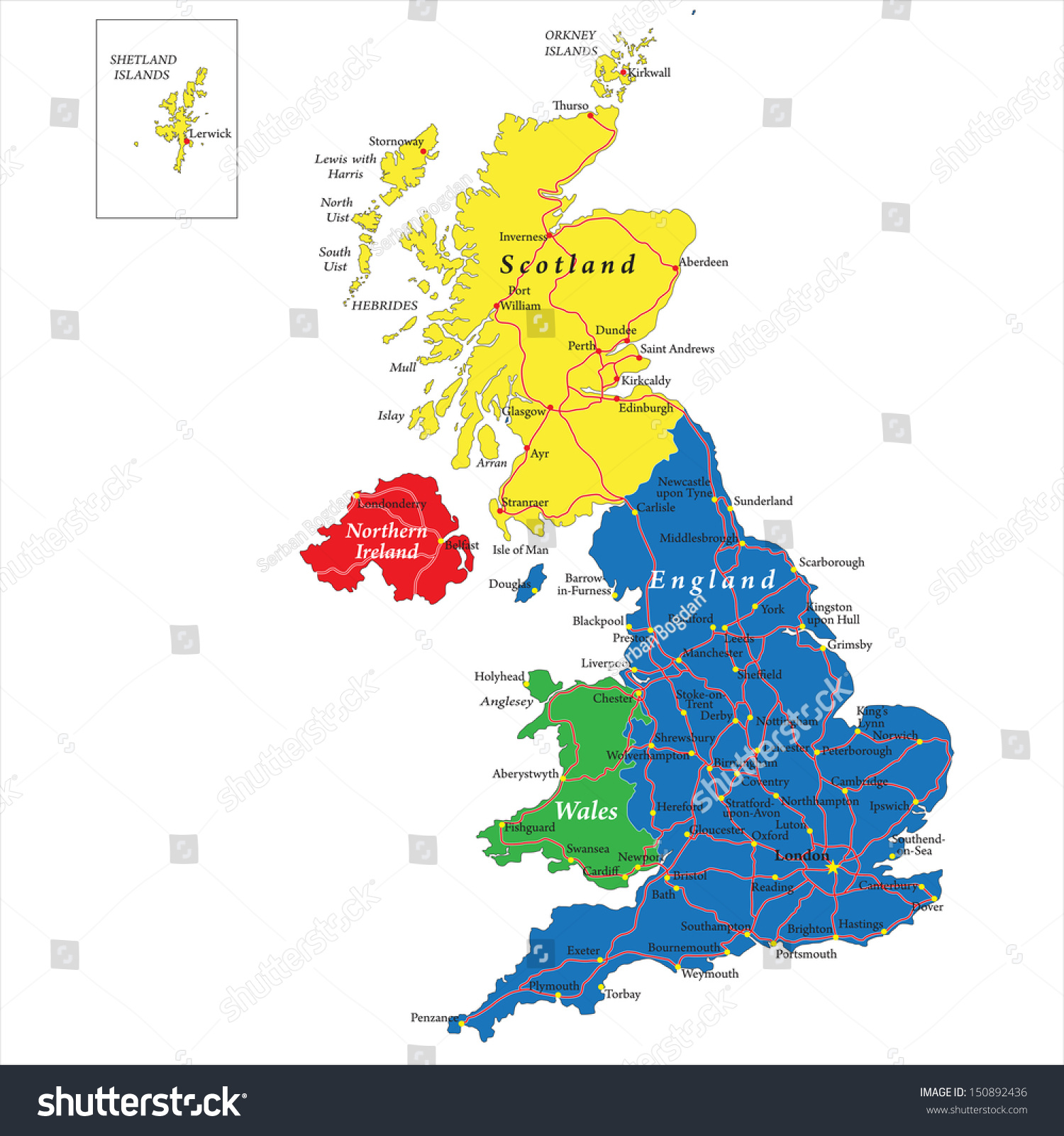 driving map of england and scotland you can see a map of many