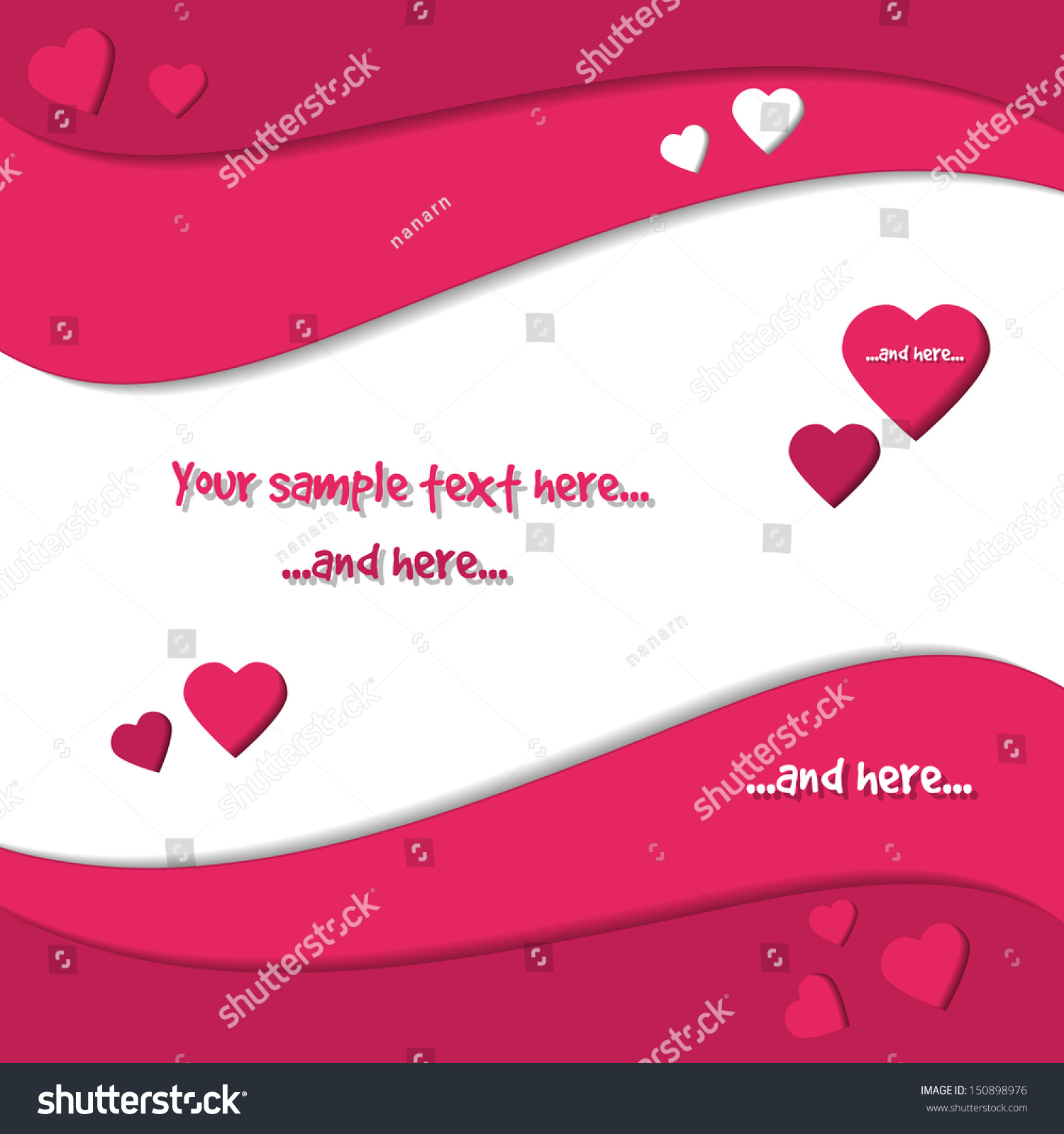 Saint valentines day greeting card love stock vector royalty free saint valentines day greeting card love hearts and spiral design writable wallpaper m4hsunfo