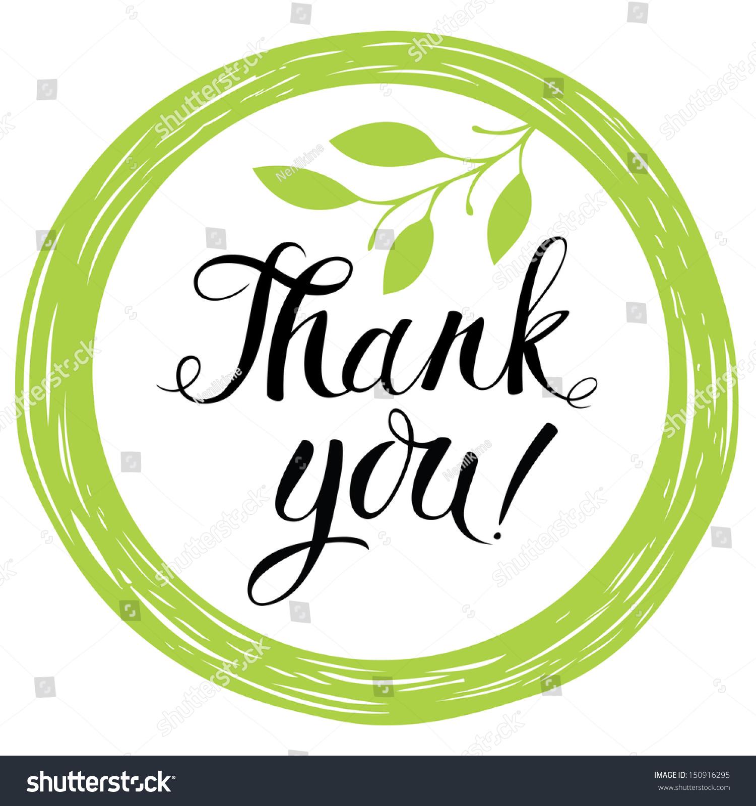 thank you card stock vector shutterstock thank you card