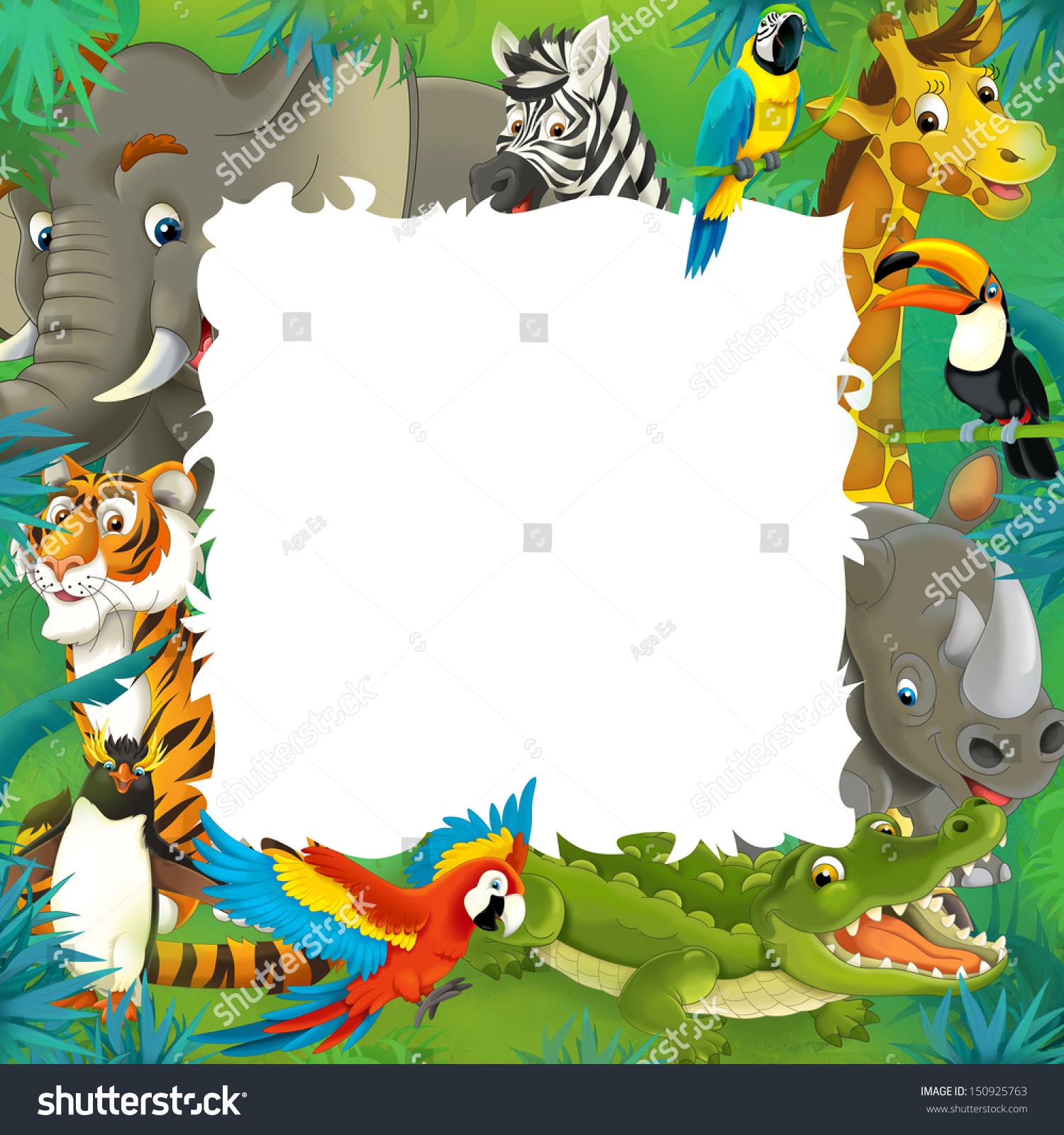 Jungle Forest Tree Animal Owl Monkey Bear Deer Wall