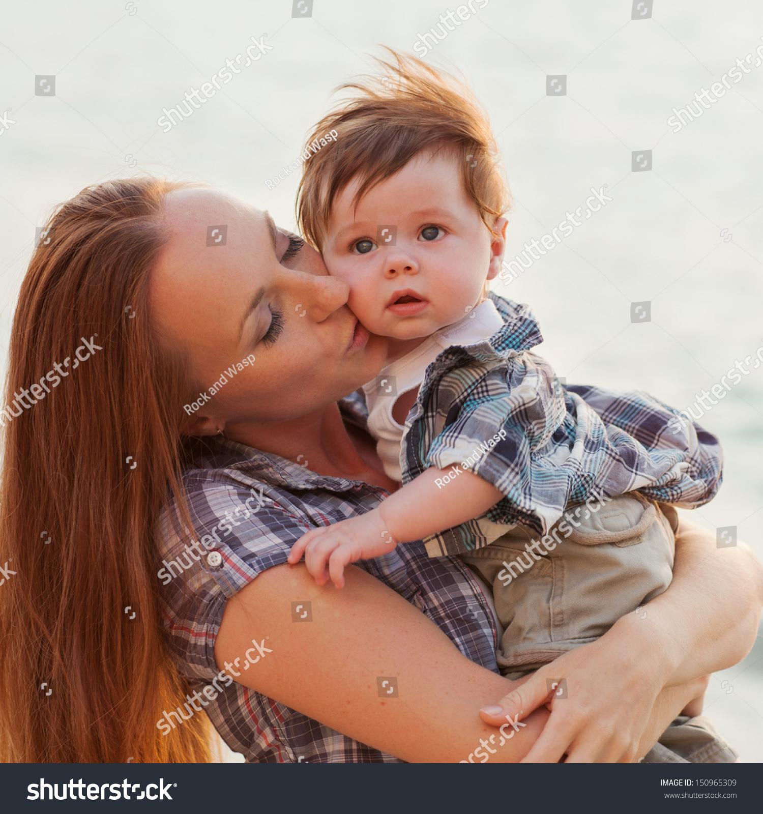 happy family having fun baby boy stock photo 150965309