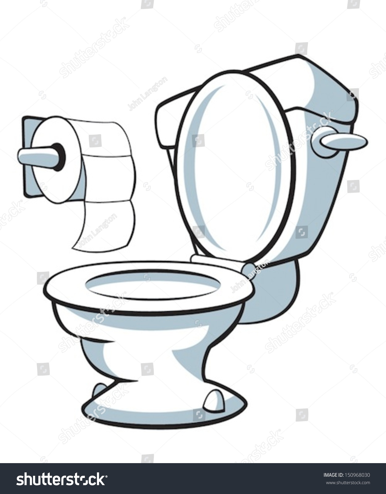 Toilet Stock Vector 150968030 Shutterstock