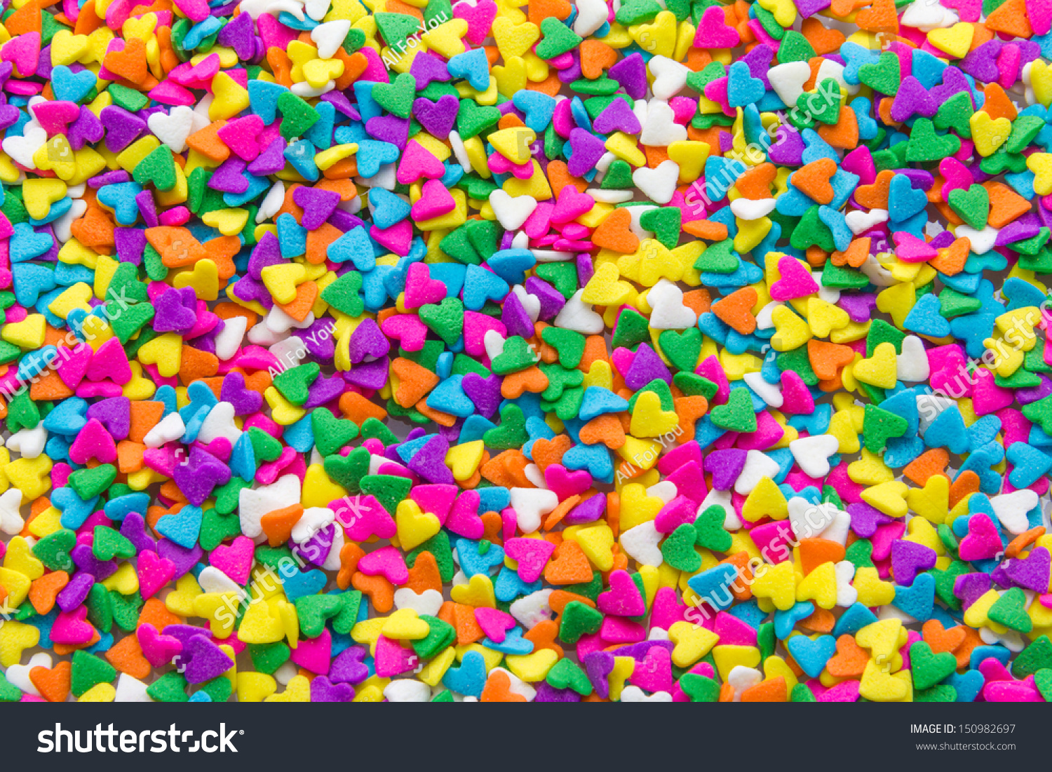 Colorful Sugar Sprinkles Background Stock Photo 150982697