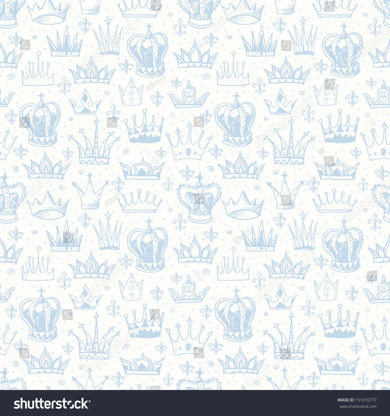 Wallpapers pattern fills web page backgrounds surface textures - Seamless Background With Crowns Can Be Used For Wallpaper Pattern Fills Textile