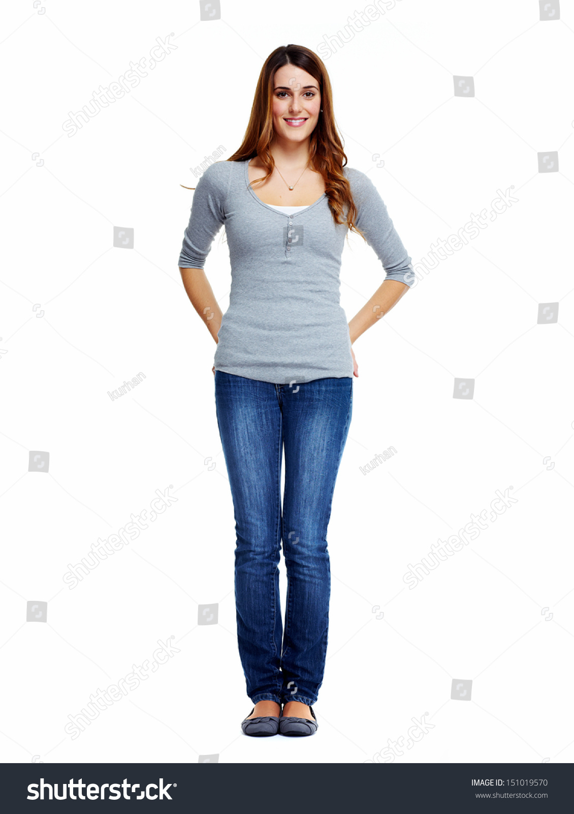 standing woman isolated on white background stock photo edit now