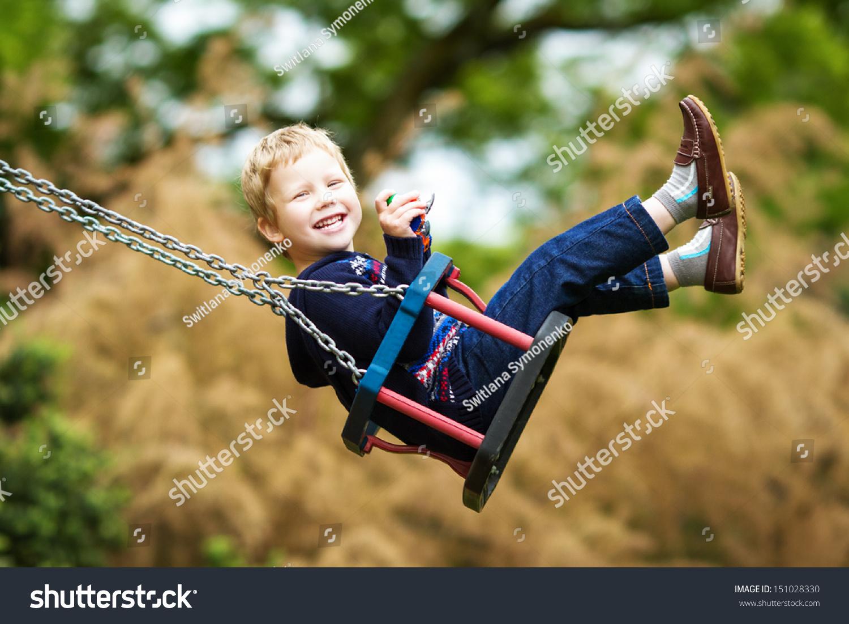 Little Child On Swing Stock Photo 151028330 : Shutterstock