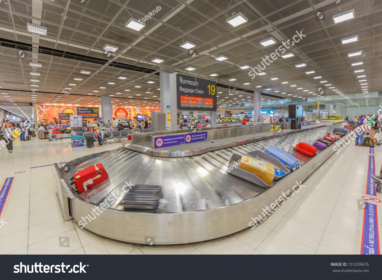 Bangkok July 5 Baggage Claim Area Stock Photo 151039676 ...