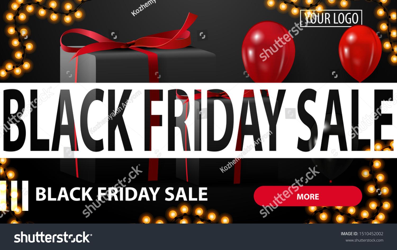 Black Friday Sale Black Horizontal Discount Stock Vector Royalty Free 1510452002