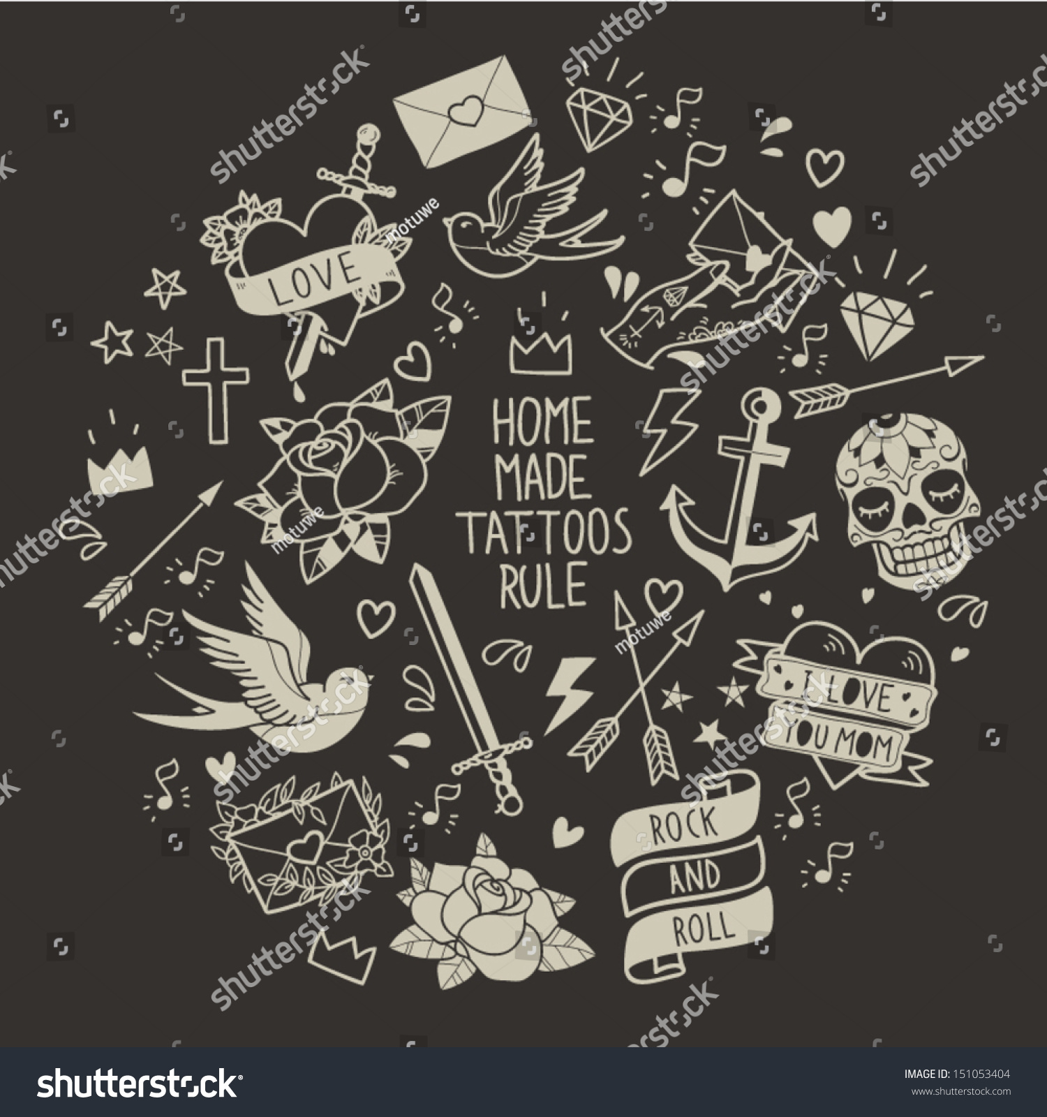 Old school tattoo ve