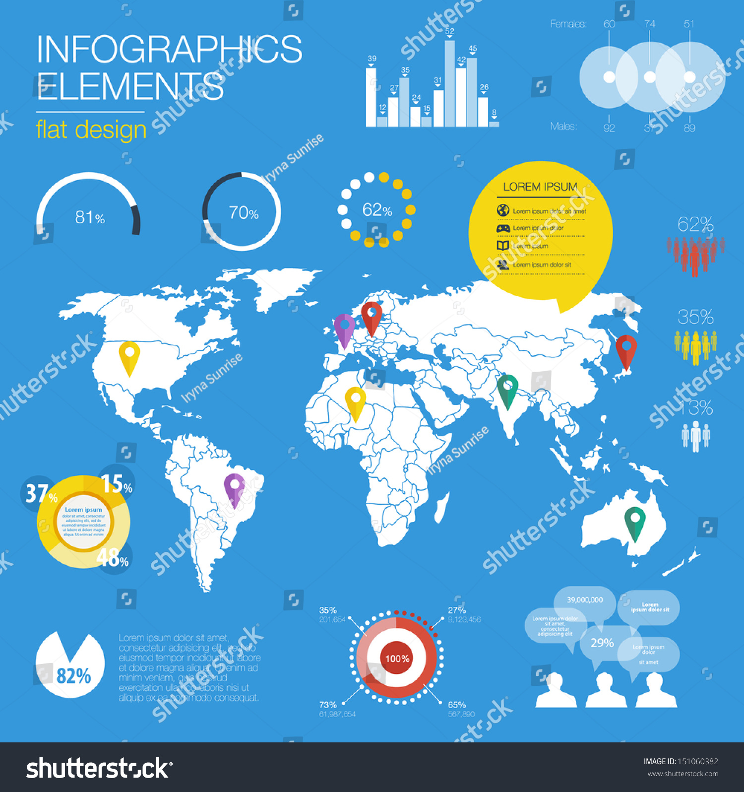Detail modern infographic vector illustration map stock vector detail modern infographic vector illustration with map of world information graphics easy to edit gumiabroncs