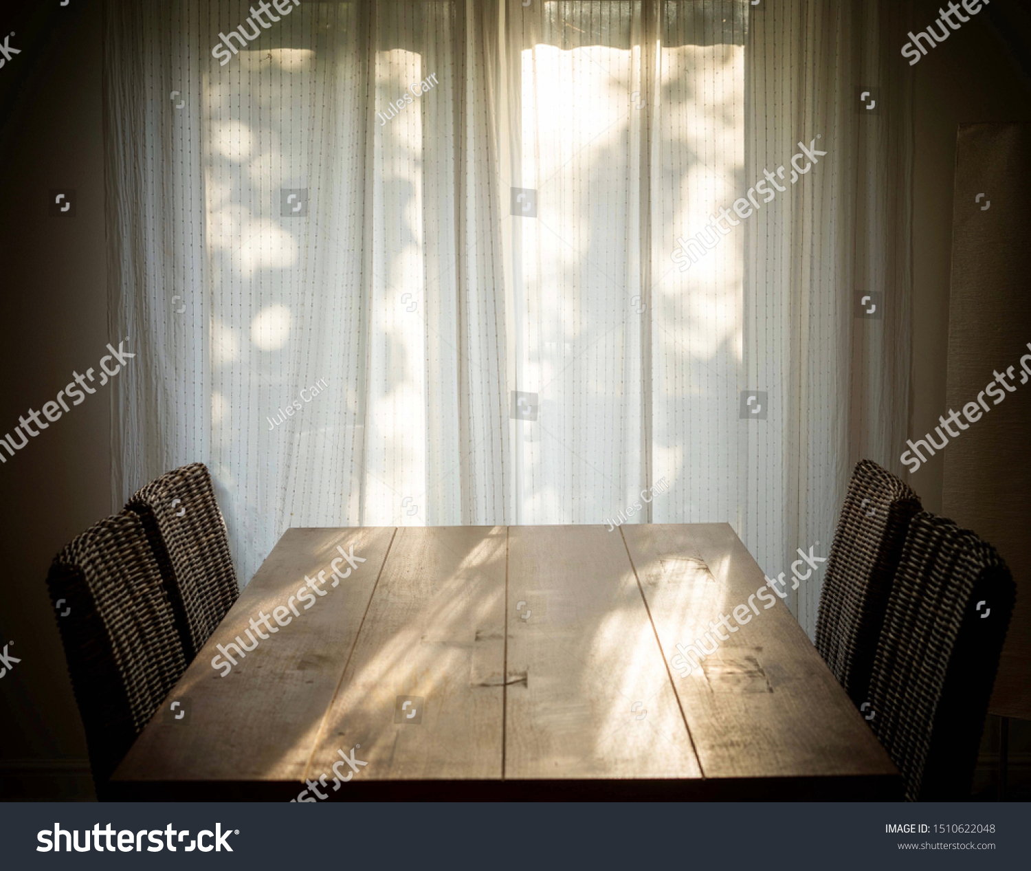 Simple Dining Room Interior Photo Light Stock Photo Edit Now 1510622048