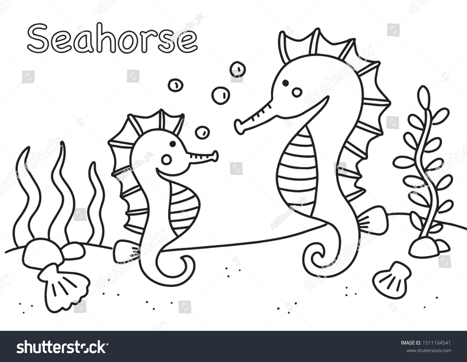 Children Coloring Book Coloring Page Animal Stock Vector Royalty Free 1511164541